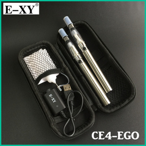 Image 2 - E XY Electronic Cigarette CE4 Double Starter Kits Zipper Carry Case 1100mAh eGo Kit 1.6ml Ce4 Atomizer E Cigarette Zipper Kit
