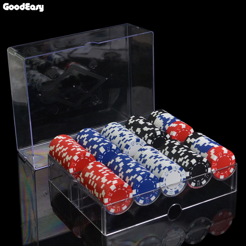 100pcs-1000pcs/set 11.5g/pcs ABS Dice Poker Chips Coins Texas Hold'em Poker Games Fichas Poker Chips Sets with Acrylic tray&box dezhou 50pcs lot coins texas hold em clay poker chips 14g color crown