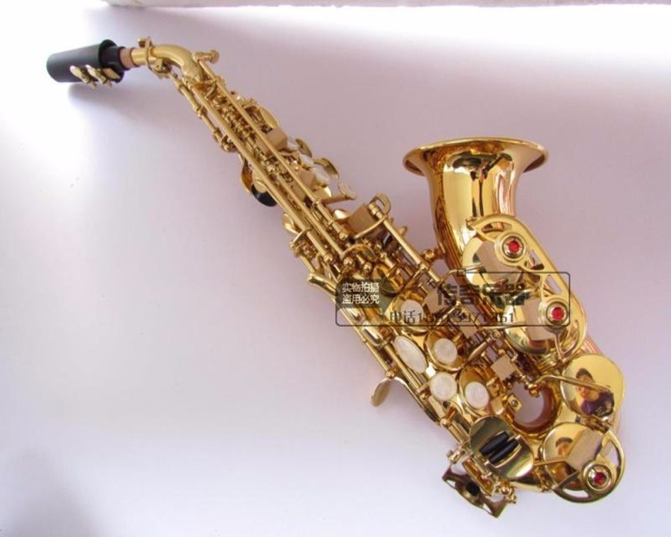 Top selmer B flat sax small Saxophone Soprano curved Sax adult children wind musical instruments free delivery brand new soprano saxophone yss 475 bronze b flat playing professionally one straight top musical instruments professional grade