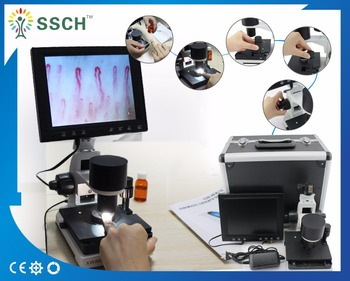 8 ' Color Screen Health Analyzer Nailfold capillary microcirculation microscope