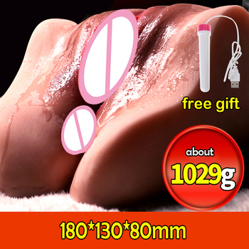 1kg Artificial Vagina Real Pussy Male Masturbator Anal Sex Cup Vagina Masturbator Pocket Pussy Male Sex Toy For Men