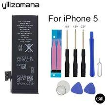 YILIZOMANA Phone Battery For iPhone 5 5G High Capacity Mobile Cell Li-po Accumulator tools Kit 1440mAh