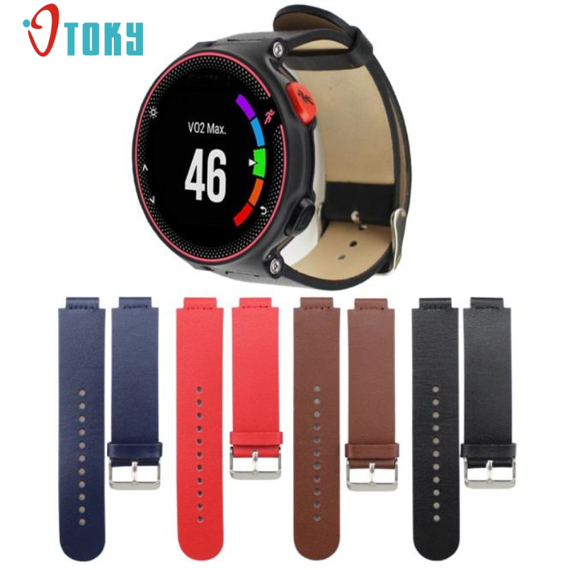 Excellent Quality Luxury Leather Watch band Wrist strap For Garmin Forerunner 235/630/230 New Arrival Fashion Design new 2016metal stainless steel watch band strap for garmin forerunner 220 230 235 630 620 735 high quality 0428