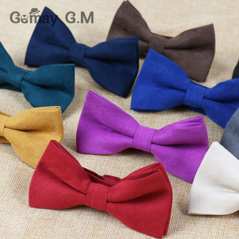 Free shipping Fashion Mens Bowtie for Part Business Casual Solid Adjustable Adult bow ties