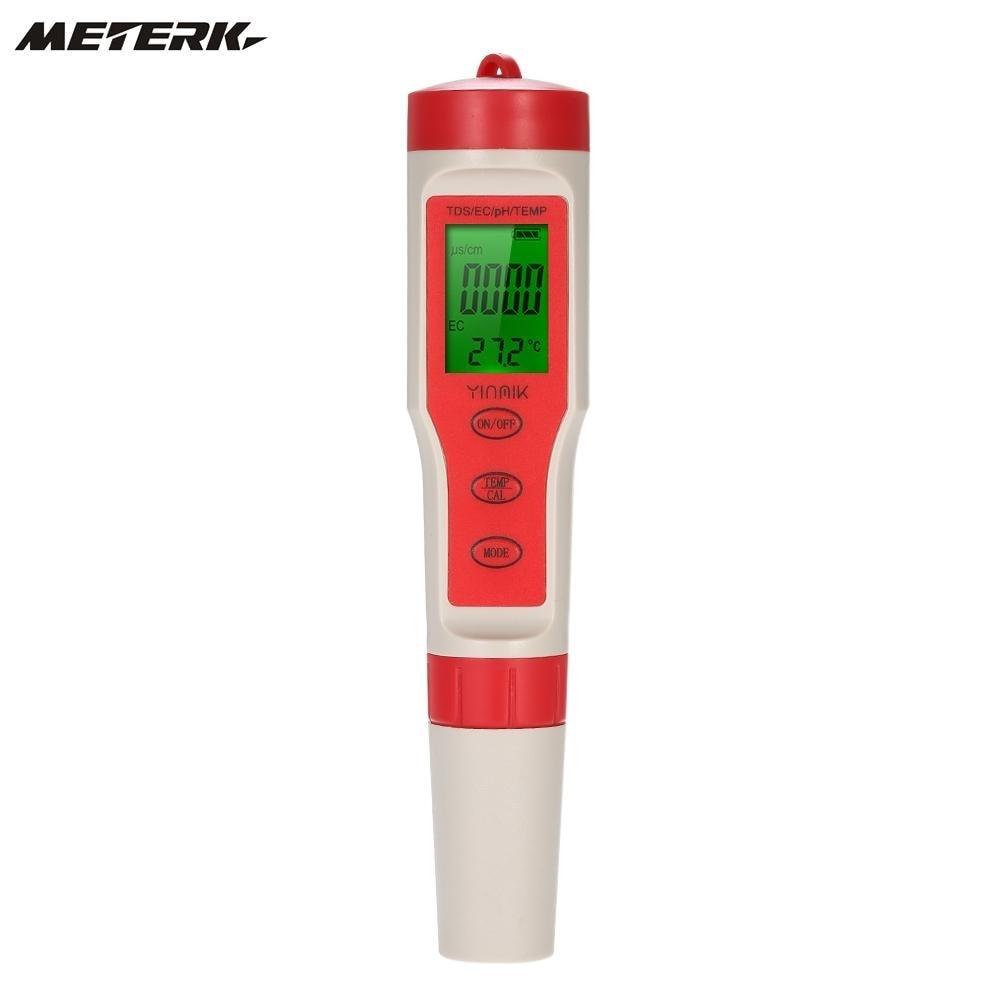 Yinmik 4 in 1 Water Quality Tester Pen Type pH Meter Acidometer Professional Acidimeter Water Quality MonitorYinmik 4 in 1 Water Quality Tester Pen Type pH Meter Acidometer Professional Acidimeter Water Quality Monitor
