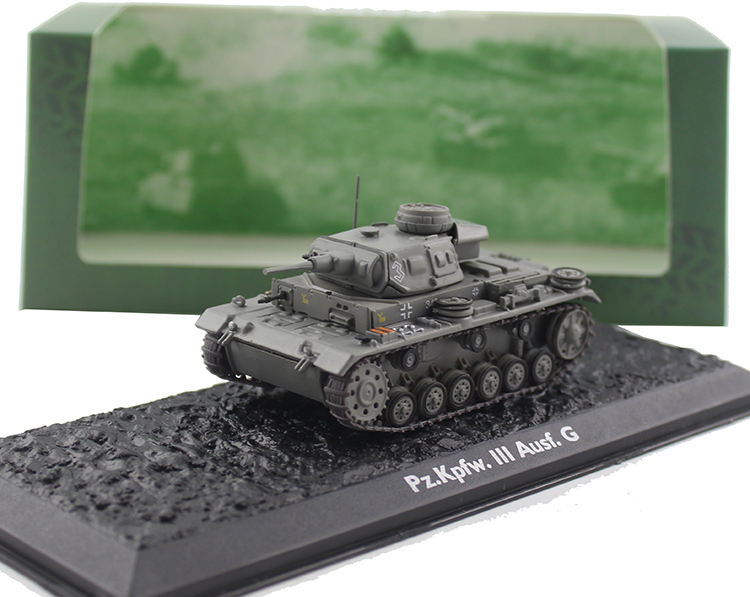ATLAS WWII German Pz.kpfw.III Ausf.G Tank model Alloy collection model Holiday gift 1 30 wwii german mechanized forces captured the urban combat scenarios alloy model suits the scene fm