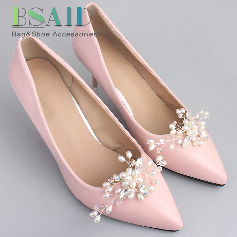 e2c98bcb1 BSAID 1 Pcs Rhinestone Shoe Clip Decoration Wedding Charms Women Shoes  Crystal High-Heel Shoe