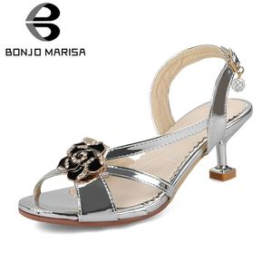 00c72795f03 BONJOMARISA 2018 Summer Sandals Party women s Shoes