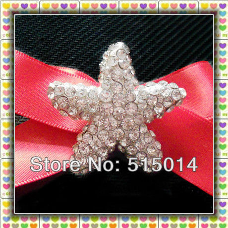 New Item!  Starfish  Rhinestone brooches  pins with bar for decoration,Wholesale !
