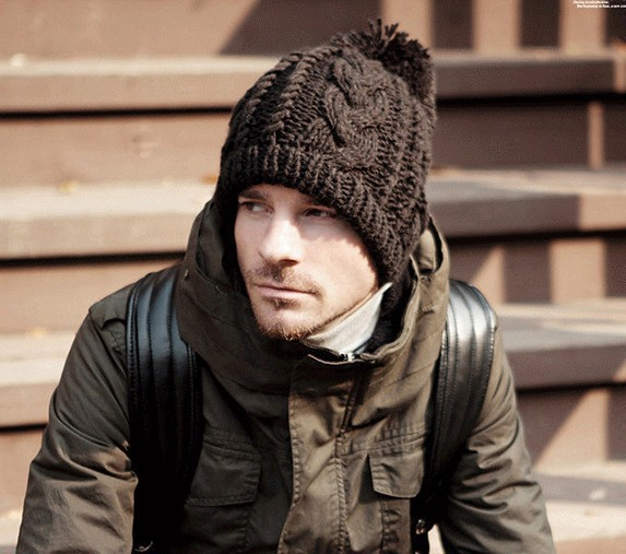 Gorro de lana gruesa sombrero de punto sombreros de invierno para ...