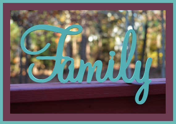 6 Family Sign,Wall hanging, Wooden Family sign, wooden letters,, home decor,Wedding props Housewares, Wall Decor