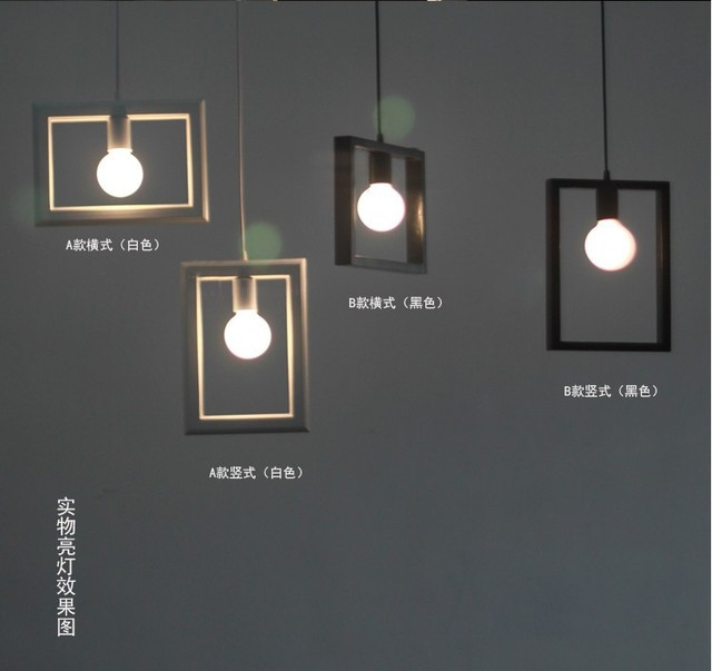 Perfect Effect Photo Frame Picture Frame Pendant Lamp Bar Gallery Exhibition Art Decoration Pendant Lights