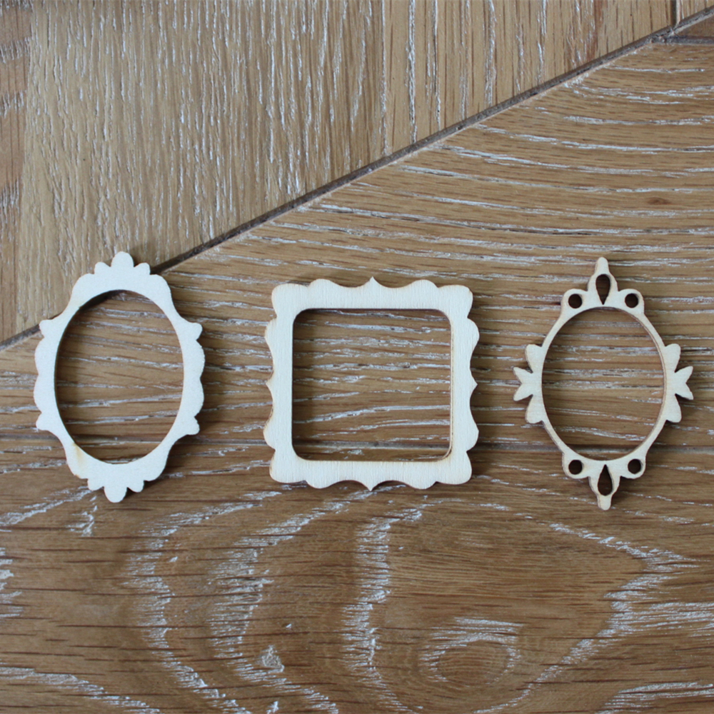 72pcs wooden mini photo frame flourish wood crafts wedding party diy decorations favors crapbooking card craft embellishments