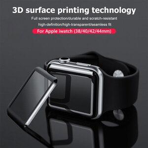 3D полное покрытие закаленное стекло для Apple Watch серии 1 2 3 4 5 Защитная пленка для iWatch 38 42 40 44 мм мягкая пленка