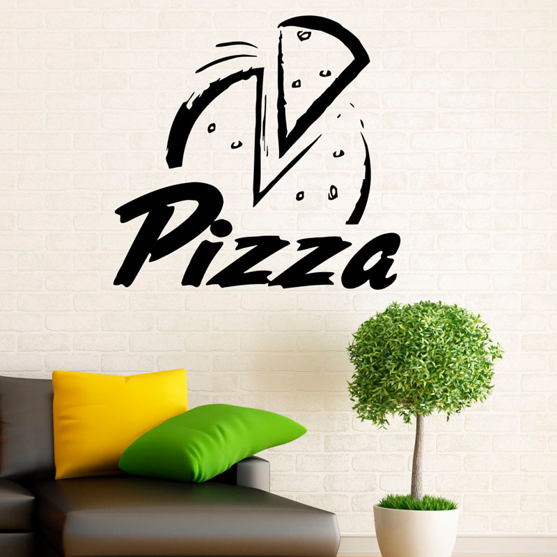 Pizzeria wall sticker pizza restaurant decoration