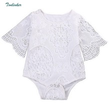 Baby Bodysuits Summer Girls Lace Flare Sleeve Climbing Suit Girl Princess Cosplay Costume Body