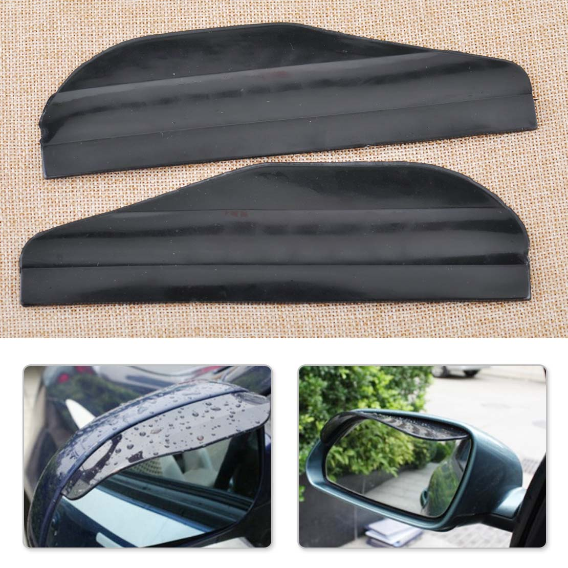Citall 2pcs car auto flexible rearview side mirror cover water rain sun guard visor shield fit