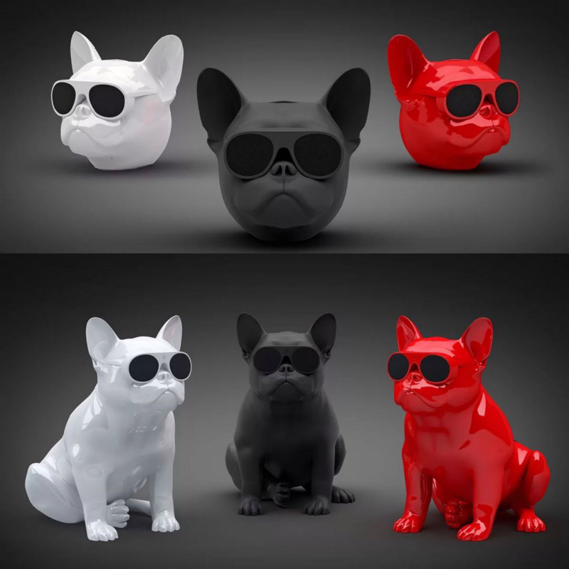 Teal Aerobull Hot Sale Wireless Speaker New Bulldog Bluetooth Speaker Portable Stereo Super Bass Cartoon Sound Subwoofer Speaker