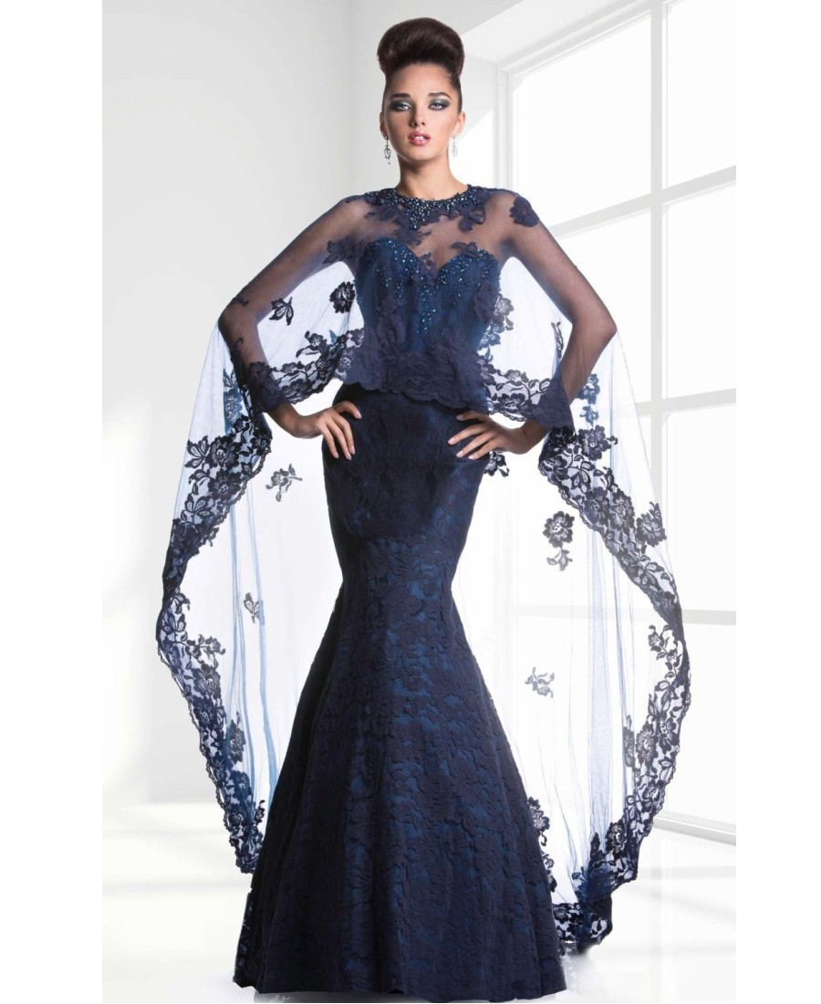 2017 Elegant Dress Party Evening With Long Jacket Mermaid Lace New ...