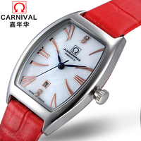 Classic Retro Wach Top brand Carnival Quartz Watch Women Watches with 30M Waterproof Leather band Fashion Casual full steel