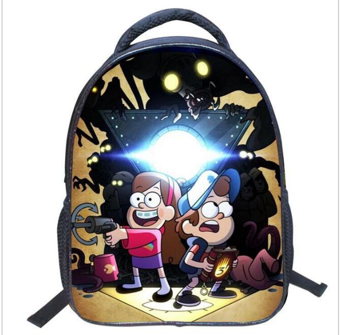 2016 Fashion Cartoon Gravity Falls font b Kids b font font b Backpack b font Kindergarten