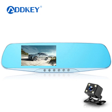 ADDKEY Night Vision Car Dvr detector Camera Blue Review Mirror DVR Digital Video Recorder Auto Camcorder Dash Cam FHD 1080P