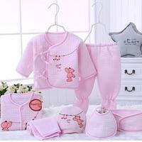 7pcs Set Newborn Baby Girl Clothes 100 Cotton Infant Clothing Set Winter Keep Warm Baby Boy