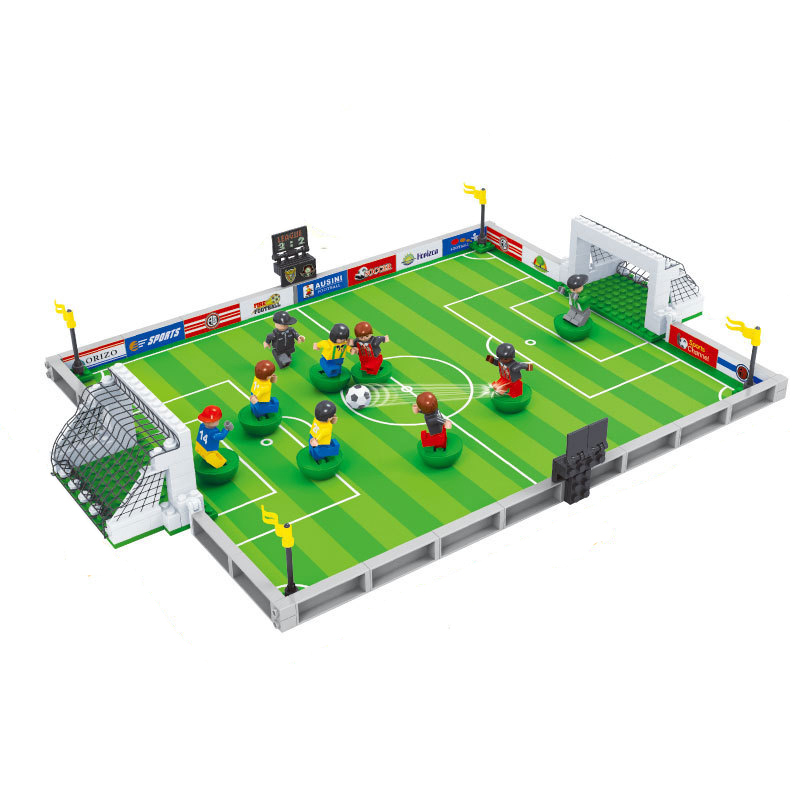 model building kits compatible with lego city football 200 3D blocks Educational model & building toys hobbies for children ausini model building kits compatible with lego city transportation train 1025 3d blocks educational toys hobbies for children