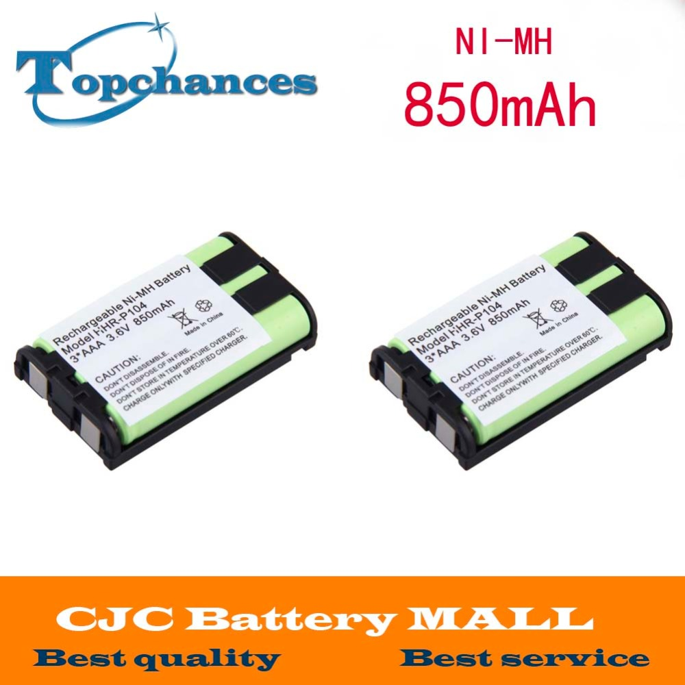 Power Source Free Shipping 2pcs Ni-mh 850mah 3.6v 3*aaa Hhr-p104 Hhr-p104a/1b Rechargeable Cordless Home Phone Battery For Panasonic Smoothing Circulation And Stopping Pains Batteries