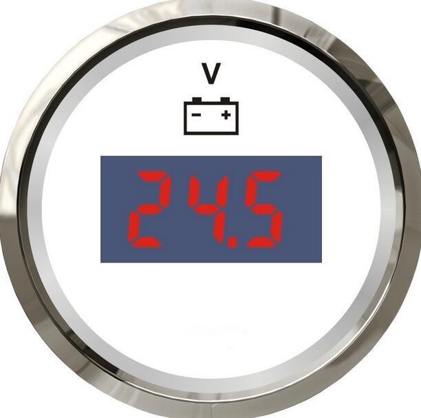 Alta qualidade & brand new digital voltímetros medidores medidores de tensão volt 12 v/24 v apto para barco auto cor branca