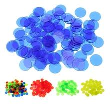 100 шт 19 мм фишки для бинго, маркеры для игры в бинго, пластиковые карты для классных детских и карнавальных игр в бинго