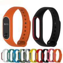 Silicone Wrist for Xiaomi Mi band 2 Strap Colorful Strap Wristband Replacement Smart Band For Mi Band 2 Silicone(China)