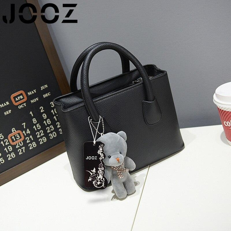 Jooz новый роскошный женщин сумки crossbody сумки искусственная кожа женские Сумки На Ремне Твердые Цвета Конфеты Сумка С Медведь Плюшевые игрушка