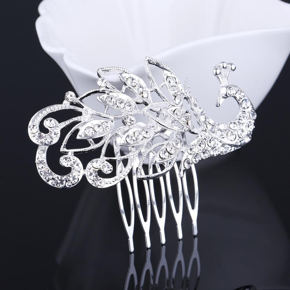 2017 Sale Simulated Pearl Crystal Hair Combs Trendy Wedding Bridal Bridesmaid Metal Hair Head Piece Tiara Comb Accessories