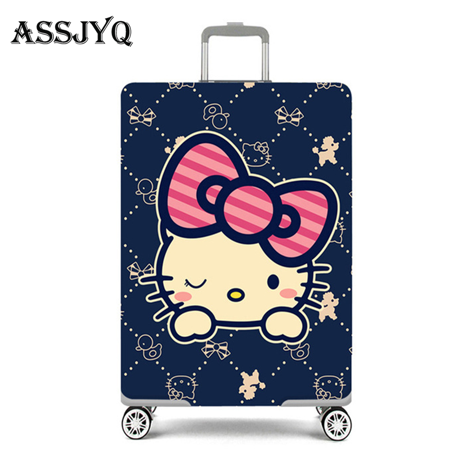 New Suitcase Cover Men And Women Stretch Travel Accessories Travel Cartoon Dust Luggage Cover 18-32 Inch Luggage 2019 Hot Sale