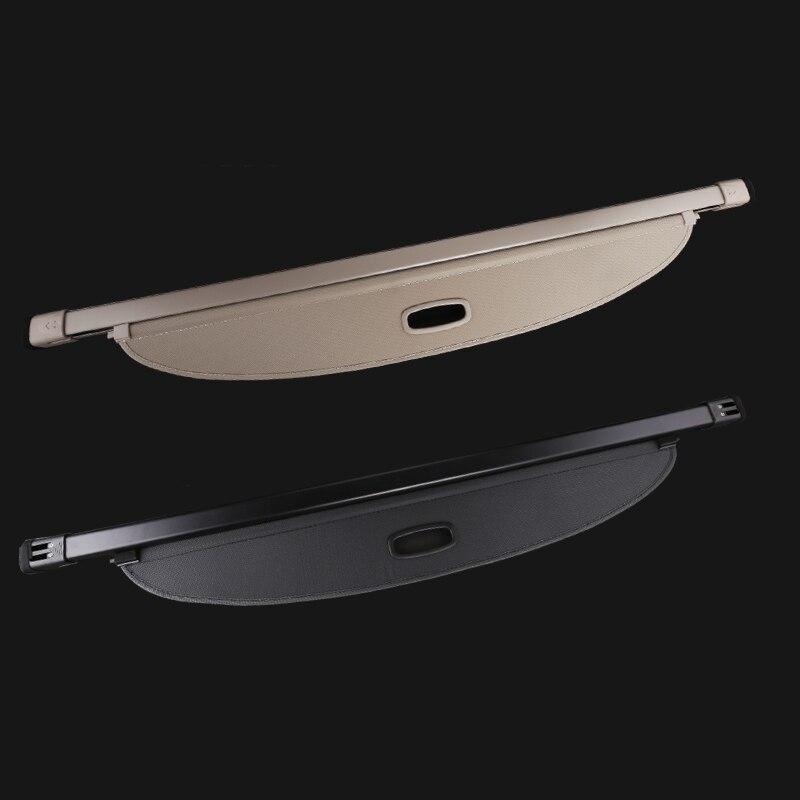 Écran de coffre de couverture de confidentialité de cargaison arrière de voiture adapté pour Audi Q3 2013-2019 couvertures d'ombre de bouclier de sécurité (noir, beige)