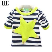 HE Hello Enjoy baby girl outfit spring autumn children t-shirts striped kids long sleeve t-shirt boys clothes sport boys t-shirt