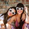 Winla gafas de Sol Mujeres Del Ojo de Gato gafas de Sol de Montura Redonda Gafas Recubrimiento Espejo Moda Vintage gafas de Sol Gafas Mujeres Oculos