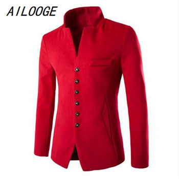 AILOOGE 2017 New Four Seasons To Wear Blazer Patchwork Men Fashion Casual Men's Fashion Brand All With A Suit Jacket
