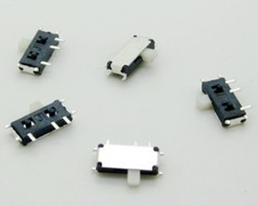 10PCS MSK 12C01 07 1P2T 7Pin foot SMT SMD Stubbs 2 Position Power Mico Switch