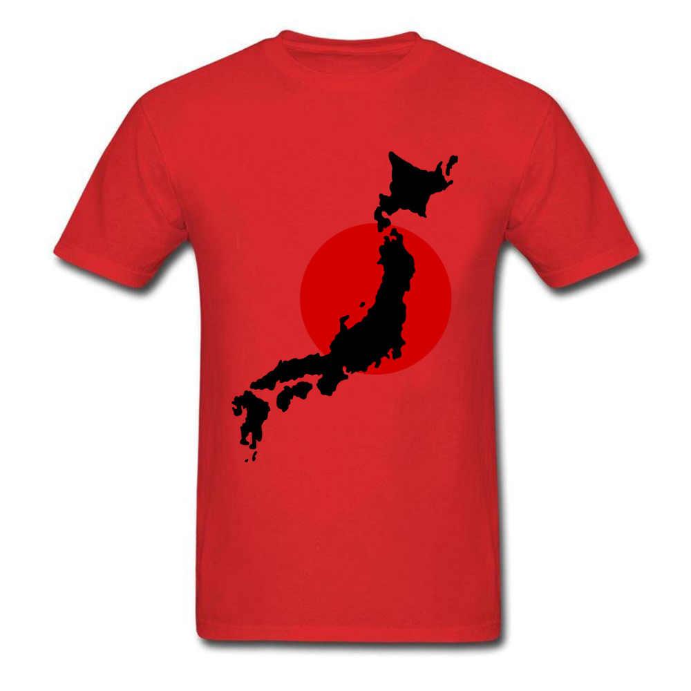 Bandera Japón mapa gráfico camisetas Hipster llegada hombres camisetas mejor cumpleaños camisetas Liverpool algodón suelto camisetas Nice Drop Shipping