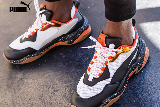 b855ff082d16 PUMA Thunder Spectra Mens Sneakers Sport Shoes 367996-01 Badminton Shoes  Black Orange Thunder Desert Men s Retro Dad Shoes 40-45