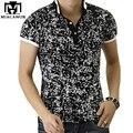 2017 nuevos hombres de polo camisa de la impresión de la manera de polo homme slim fit camisa de polo de manga corta de algodón de verano ropa de la marca mt534