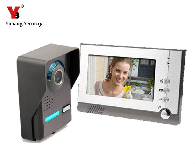 Yobang Security 7 TFT LCD Color Video Door Phone Doorbell Doorphone Intercom for Villa Apartment ,Video Intercom system 7 tft lcd color video doorphone doorbell intercom system with ir camera night vision for villa home apartment