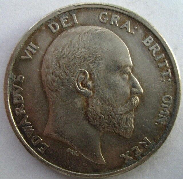 Inggris 1905 1/2 CROWN copy koin
