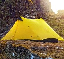 Новинка 2017 года Дизайн 3F ul передач 2 людей oudoor Сверхлегкий Палатка Профессиональный 15D нейлон силиконовое покрытие бесштоковый палатка