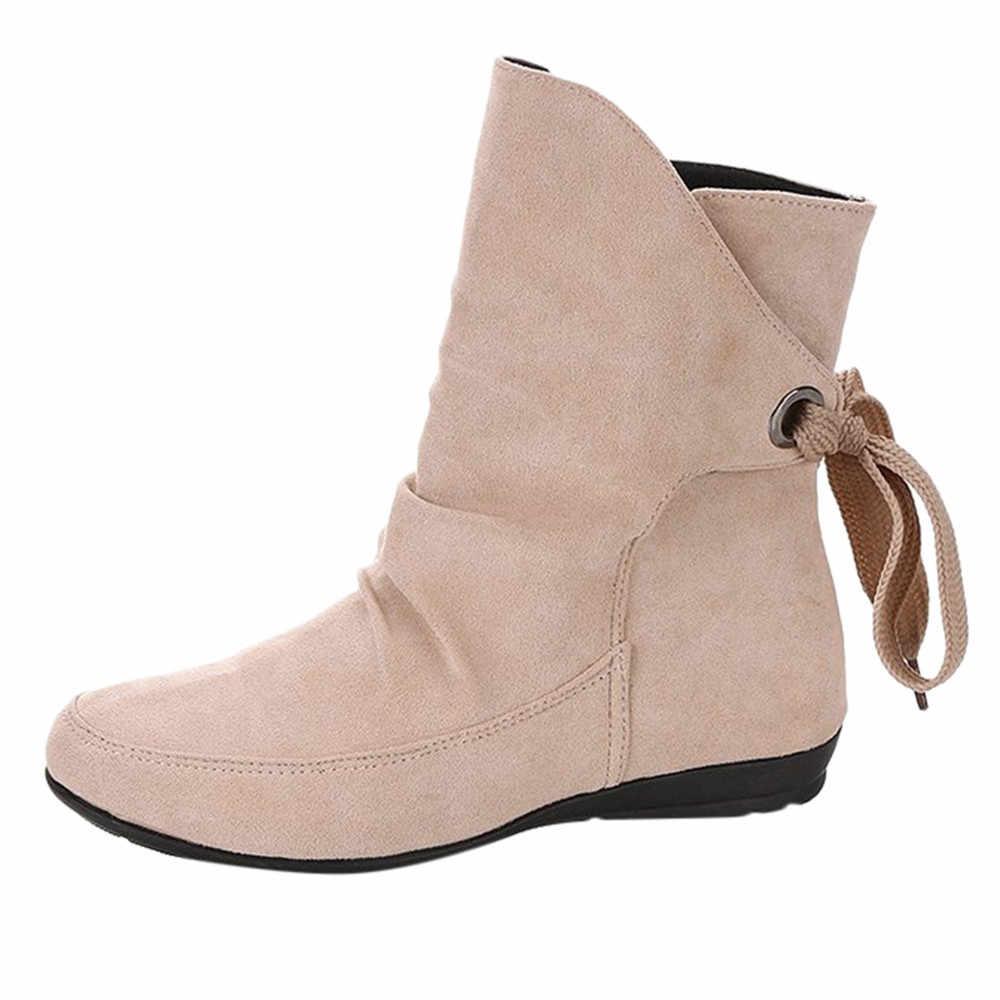 d48ea53dae0a SAGACE boots women winter boots women Women Shoes Lace Up Buckle Roman  Ankle Short Boots Martin