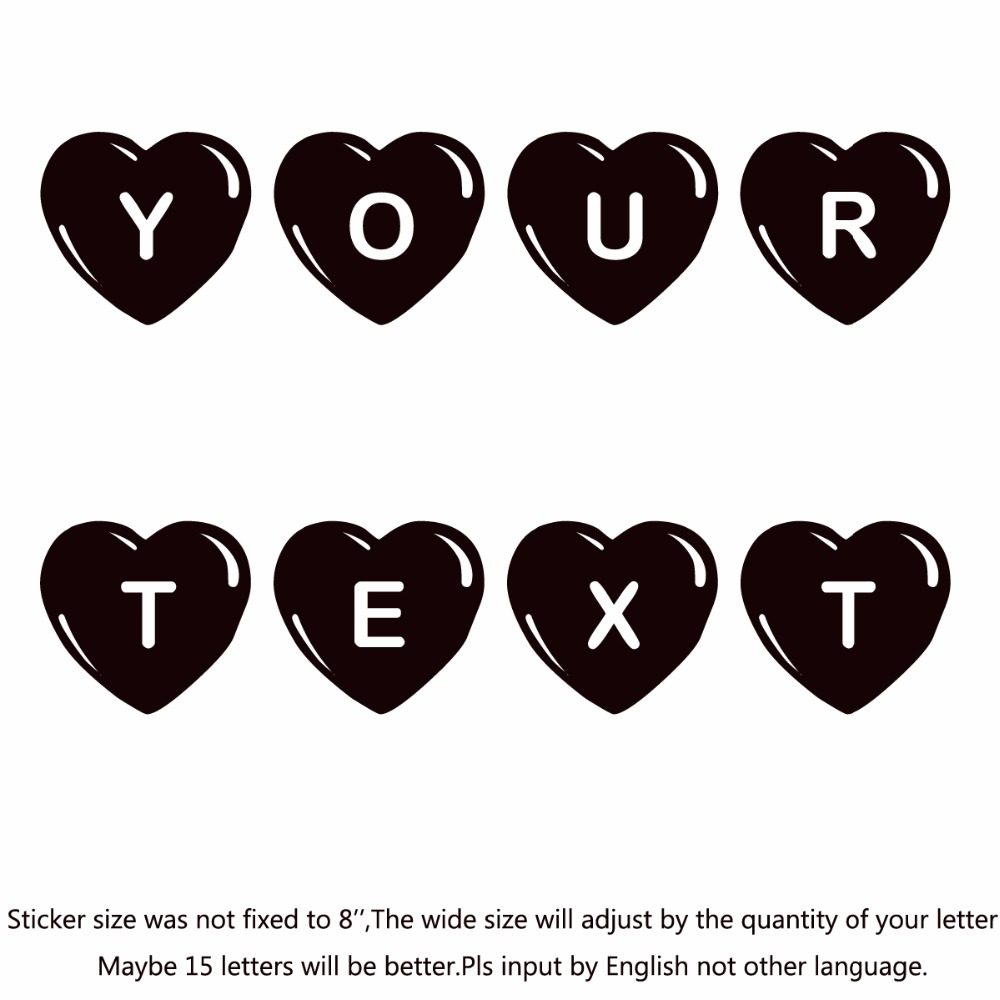 your text vinyl decal sticker car window bumper custom 7 personalized lettering jlr pawrty hearty