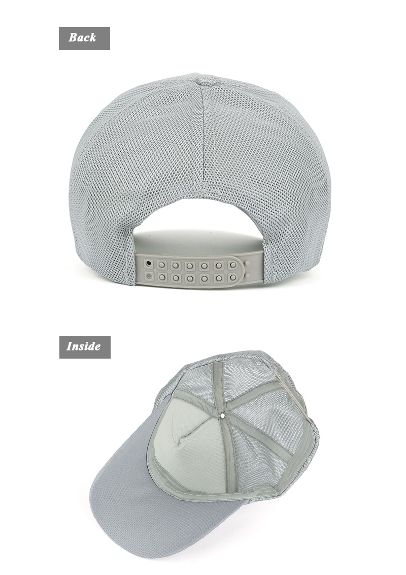 Stamp Emblem Snapback Cap - Rear and Inside Views