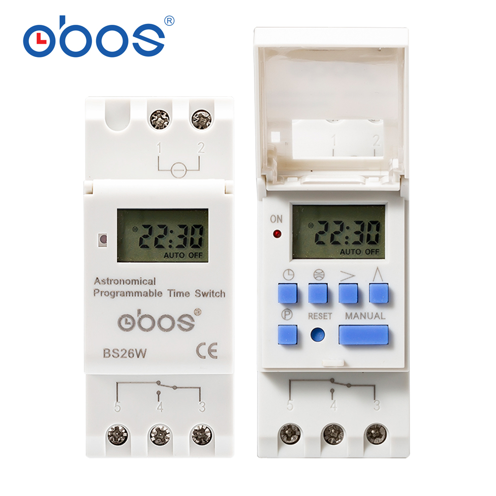 Astronomical programmable time switch BS26W latitude and longitude digital 16A selectable voltage